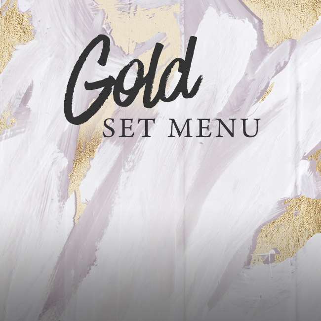 Gold set menu at The Spring Tavern