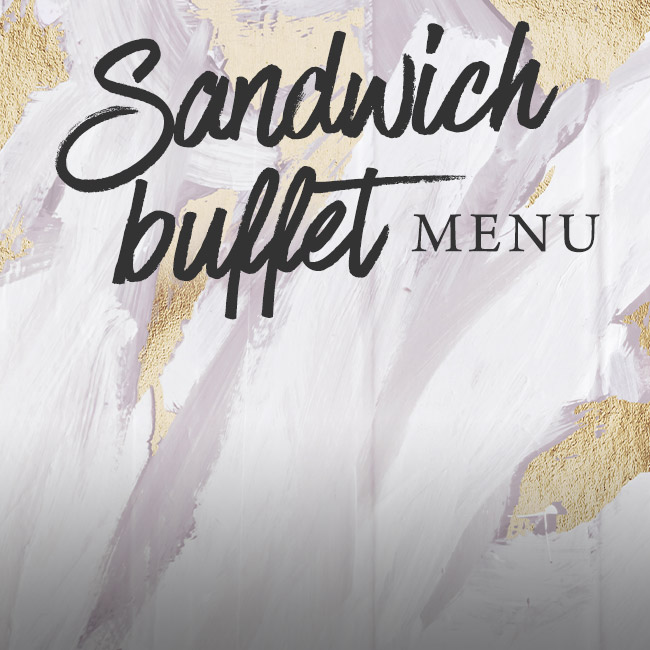 Sandwich buffet menu at The Spring Tavern