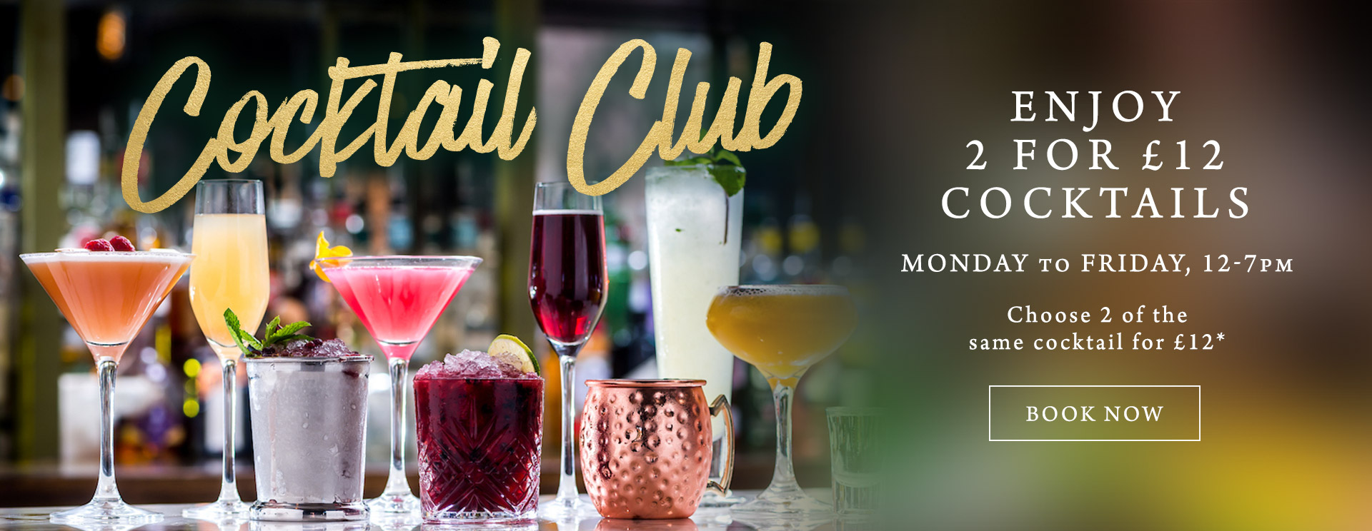 2 for £12 cocktails at The Spring Tavern